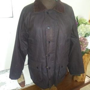 Zara oilskin English hunting waterproof jacket m